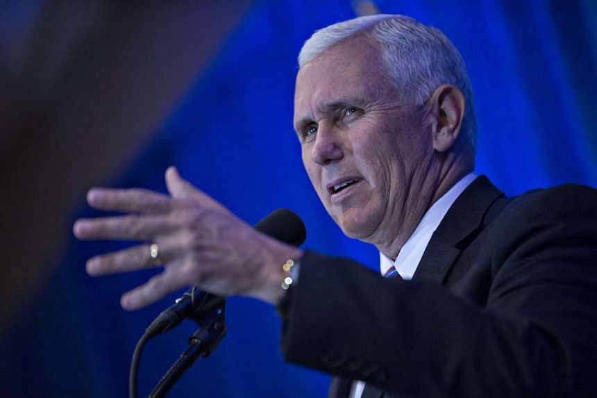 Mike Pence speaks ahead of an address by Donald Trump, on Obamacare in King of Prussia, Pennsylvania, US, on Nov 1, 2016.