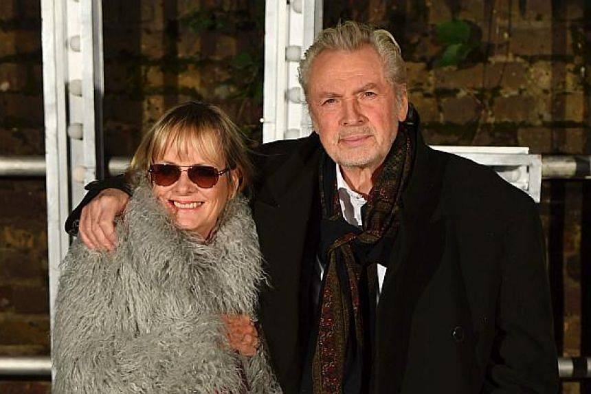 Twiggy (Lesley Lawson) and her husband Leigh Lawson attending the Stella McCartney menswear launch and women's Spring 2017 collection presentation in London on Nov 10, 2016.
