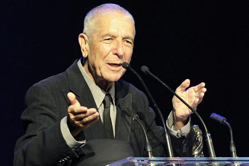 The late Leonard Cohen speaking after receiving the Glenn Gould Prize in Toronto, Ontario, Canada on May 14, 2012. The Glenn Gould Prize is awarded biennially to a living individual for a lifetime contribution to the arts.