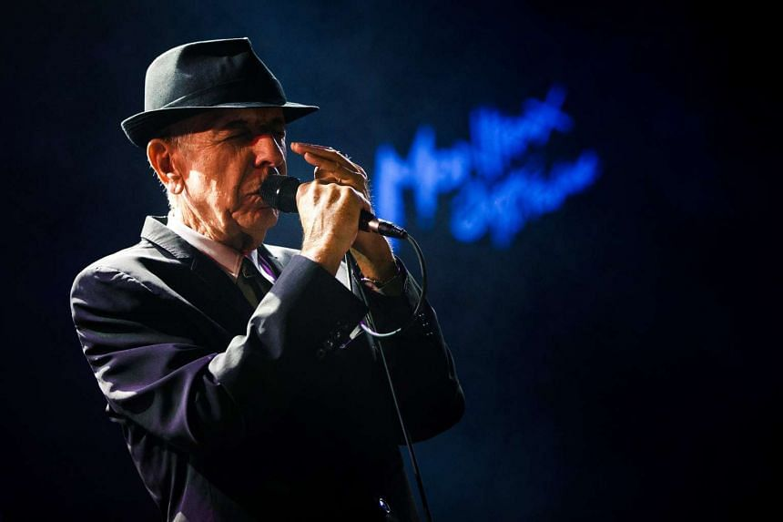 Leonard Cohen performing during the first night of the 47th Montreux Jazz Festival in Montreux, Switzerland on July 4, 2013.