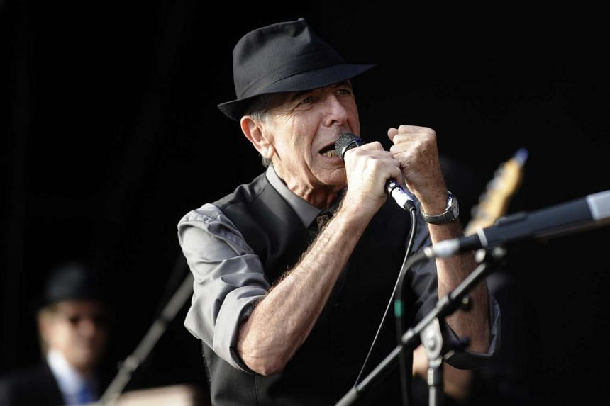 Leonard Cohen performing during the international Festival of Beincassim, on July 20, 2008.