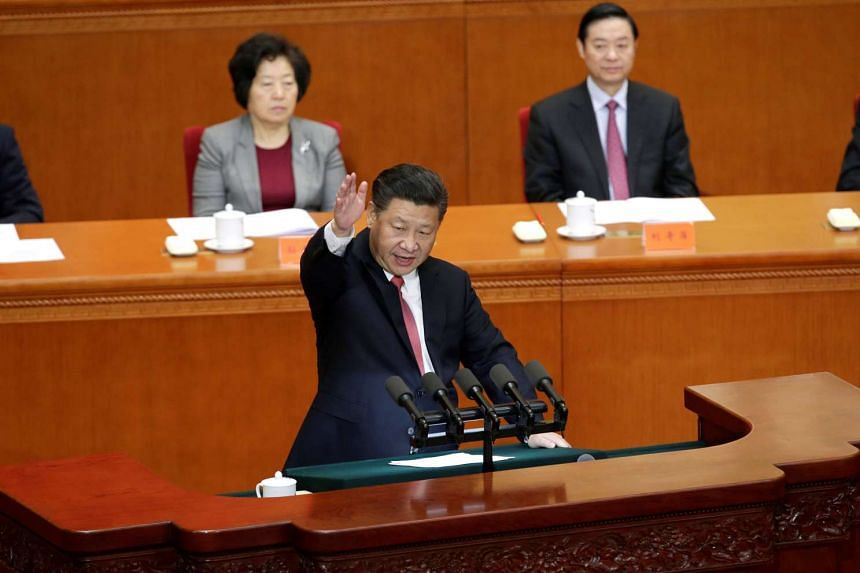 China's President Xi Jinping delivers a speech at a conference commemorating the 150th birth anniversary of Sun Yat-Sen in Beijing on Nov 11, 2016.