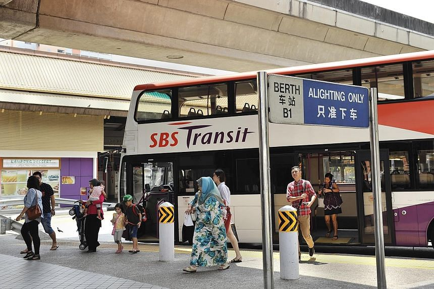 SBS Transit's bus business posted a 35.1 per cent rise in operating profit to $9.2 million, with lower diesel cost contributing to its margin of 4.5 per cent. The unit commenced operations under the Bus Contracting Model from Sept 1 and directors exp