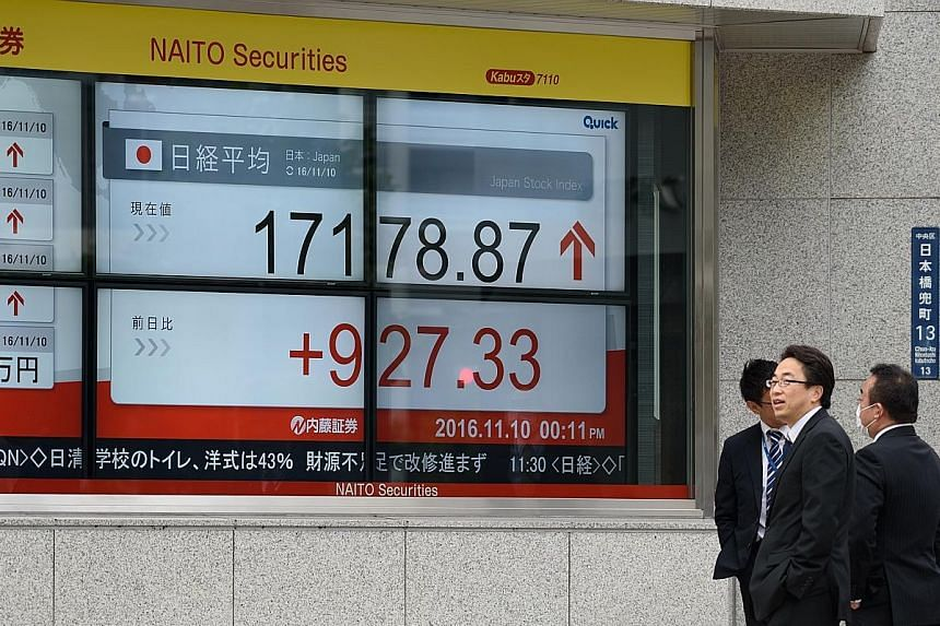 The Tokyo bourse, the worst hit of the Asian markets on Wednesday, closed strongly yesterday, with the Nikkei 225 rising 6.7 per cent. The Singapore market also rebounded, with the Straits Times Index adding 1.58 per cent yesterday.