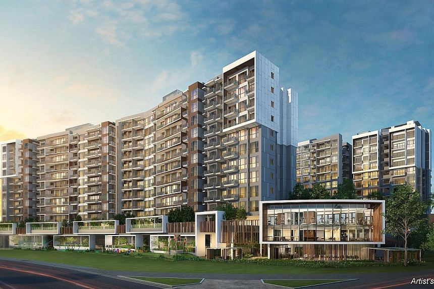 Artist's impression of Forest Woods in Serangoon Central. The newly launched project has sold more than 70 per cent of its 519 units, with an average selling price of about $1,400 per sq ft. Growth in group revenue was driven by contributions from th