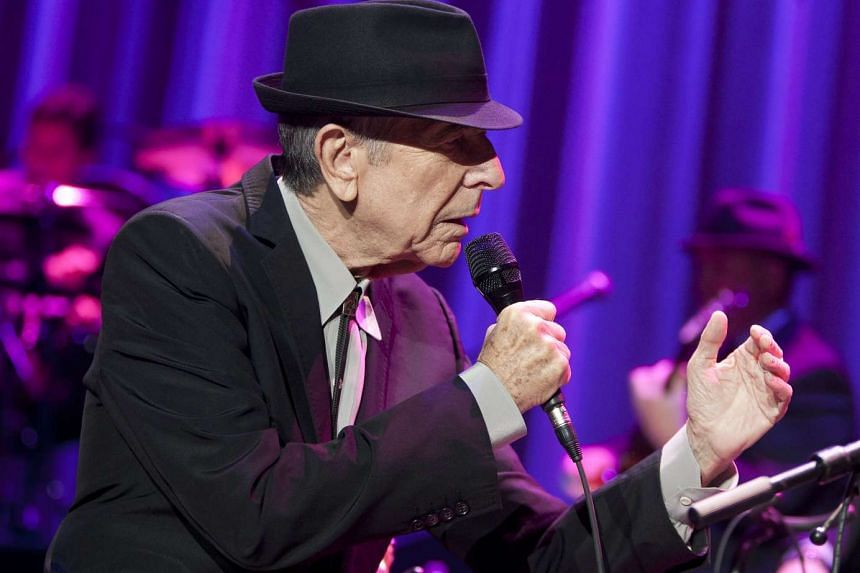 Leonard Cohen performing at Madison Square Garden in New York City, on Dec 17, 2012.