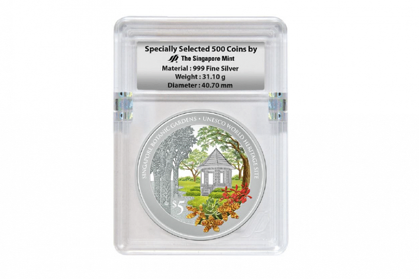 The specially selected 500 coins of 1 troy oz 999 Fine Silver Proof Colour Coin