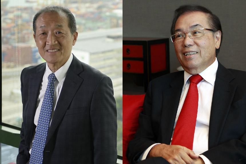 Singapore Airlines (SIA) chairman Stephen Lee (left) will be succeeded by Mr Peter Seah Lim Huat on Jan 1.