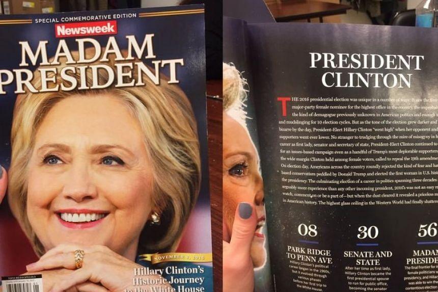 The 'Madam President' Newsweek issue.