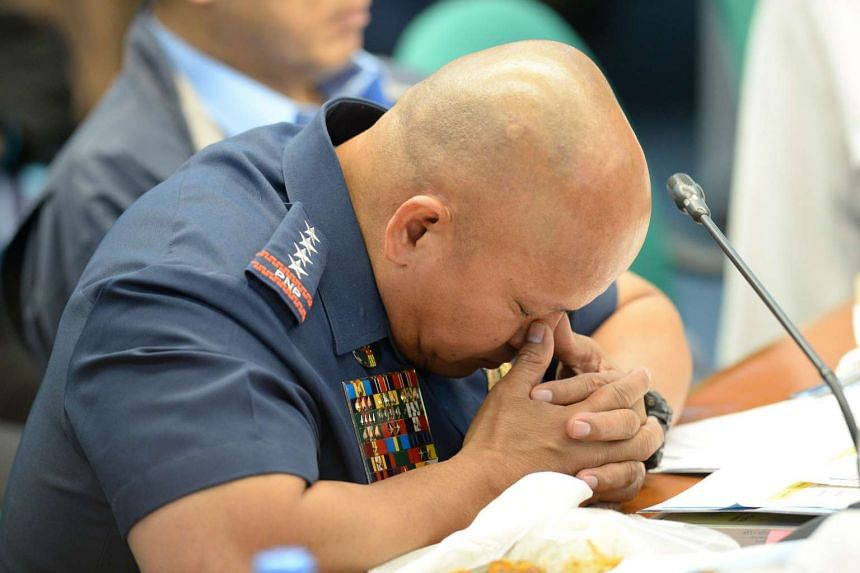 Philippine police chief Roland dela Rosa, shown here in August, admitted that he and his family flew to Las Vegas to watch Manny Pacquiao's match for free.