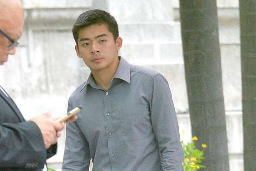 Dominique Tiang Zhang Yao was jailed for threatening to circulate his army mate's girlfriend's upskirt video if she did not send him her nude photo.