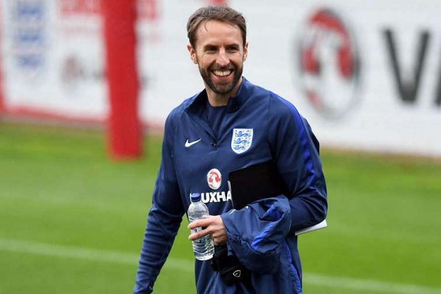 England's Interim manager Gareth Southgate arrives to host a team training session at St George's Park in Burton-on-Trent on Nov 10, 2016.