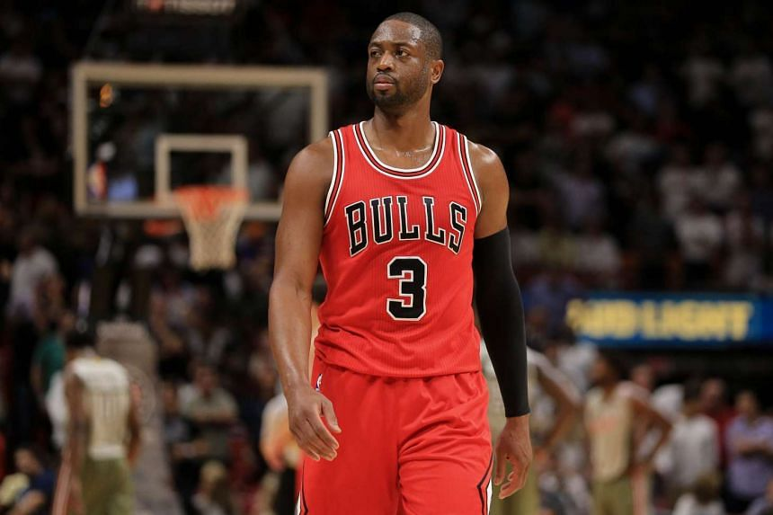 Dwyane Wade of the Chicago Bulls looks on during the second half of the game against the Miami Heat at American Airlines Arena on Nov 10, 2016.