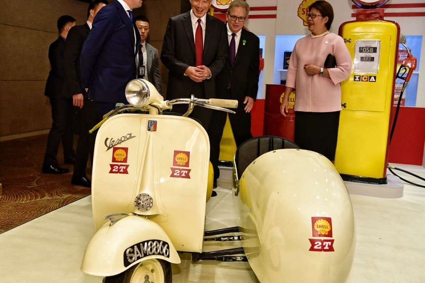 Prime Minister Lee Hsien Loong attends a gala celebration organised by Shell to celebrate its 125th anniversary in Singapore.