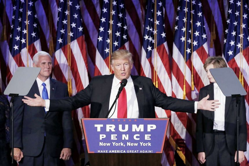 United States President-elect Donald Trump addressing supporters during his election night rally in Manhattan, New York on Wednesday.