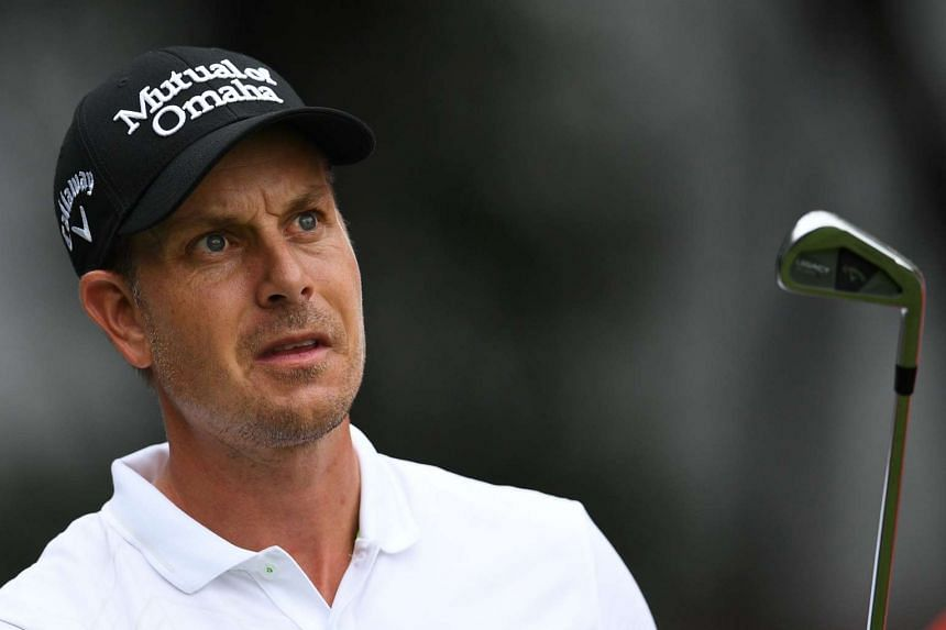 Stenson (above) made three straight birdies at 15, 16 and 17 on a tough day of scoring to register a three-under round of 69.