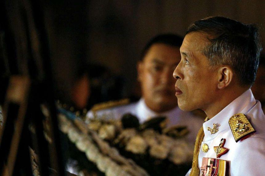 Thailand's Crown Prince Maha Vajiralongkorn attends an event commemorating the death of King Chulalongkorn, at the Royal Plaza in Bangkok, Thailand on Oct 23, 2016.