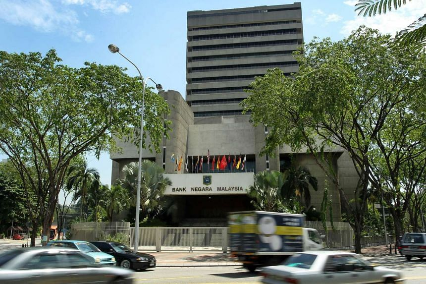 The headquarters of Bank Negara Malaysia in Kuala Lumpur, Malaysia.