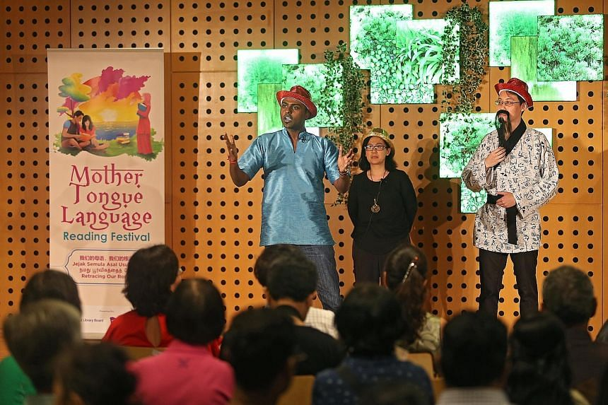Storytelling in the mother tongues is part of the festival, themed Retracing Our Roots, on till Nov 20.
