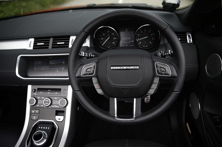 The Range Rover Evoque is best driven with its top down.