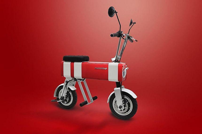Motochimp, a Singapore-designed electric scooter