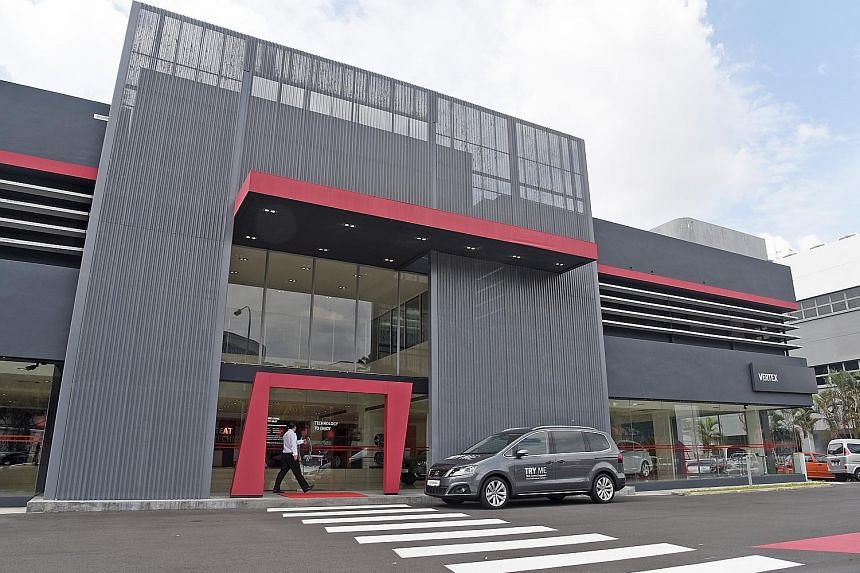 Dealer Vertex Euro Motors refurbished its showroom for Seat (right) at a cost of about $1 million, while the renovation of the BMW showroom (far right) cost $2 million. The upgraded Volvo showroom will reopen next week after a six-month renovation th