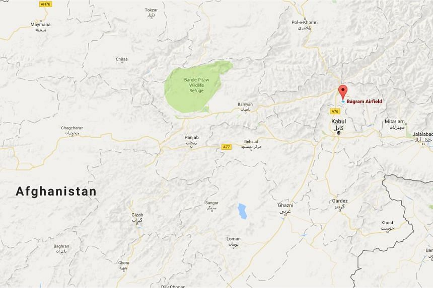 An explosion rocked the Nato air base at Bagram, north of the Afghan capital Kabul.