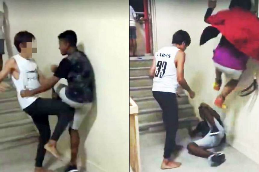 The video, which has gone viral, showed two boys hitting the victim in a stairwell while other boys watched. St Andrew's Secondary School said some of its students were involved in last Saturday's incident.
