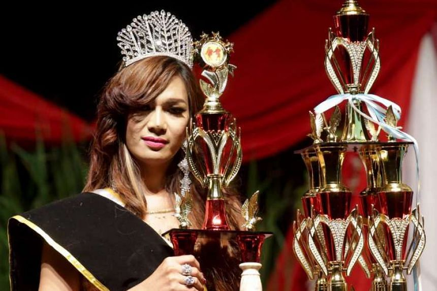 Twenty-eight-year-old Pie Nabh Tappii won the title of Miss Transgender Indonesia, facing off competition from 18 other contestants.