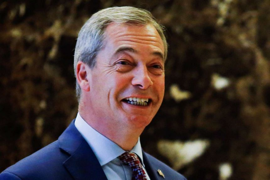Brexit campaigner Nigel Farage, leader of the United Kingdom Independence Party, arrives at Trump Tower in New York.