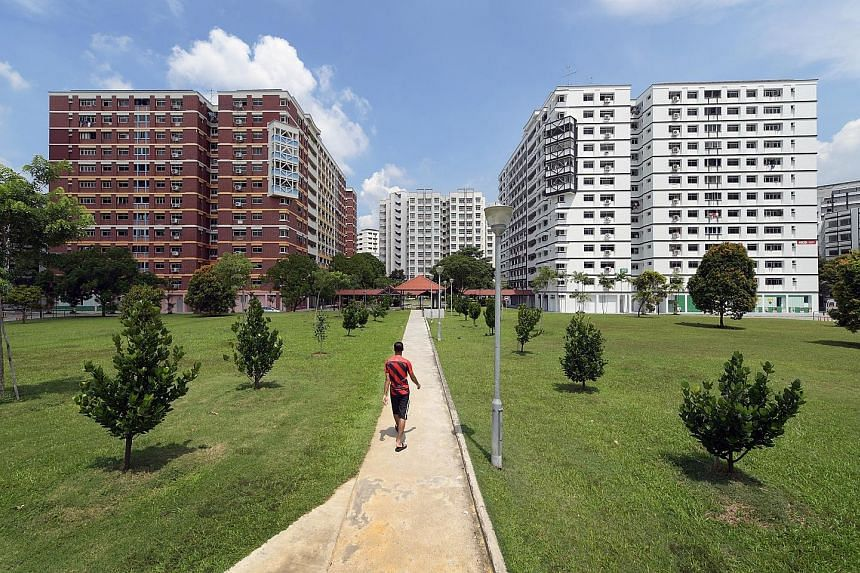 Residents in Tampines Avenue 9 recently voted to replace their blocks' traditional red brick facades with a stark black-and-white design inspired by the Tudor period.