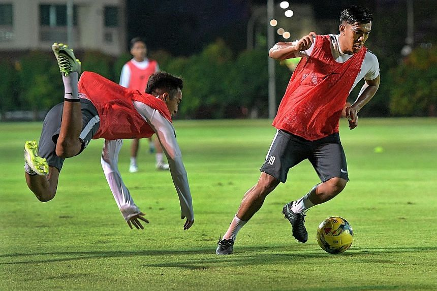 Khairul Amri, who has scored 31 goals in 106 appearances, will lead the Lions' attack in the Asean Football Federation Suzuki Cup, but the first priority is to end the team's goal drought against Cambodia in today's friendly.