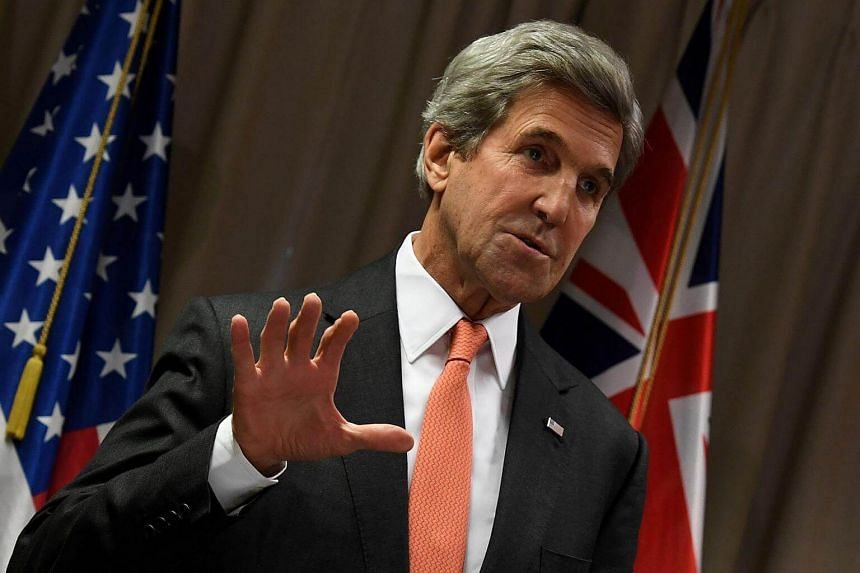 US Secretary of State John Kerry sends his congratulations to President-elect Donald Trump in Christchurch, New Zealand on Nov 10, 2016.