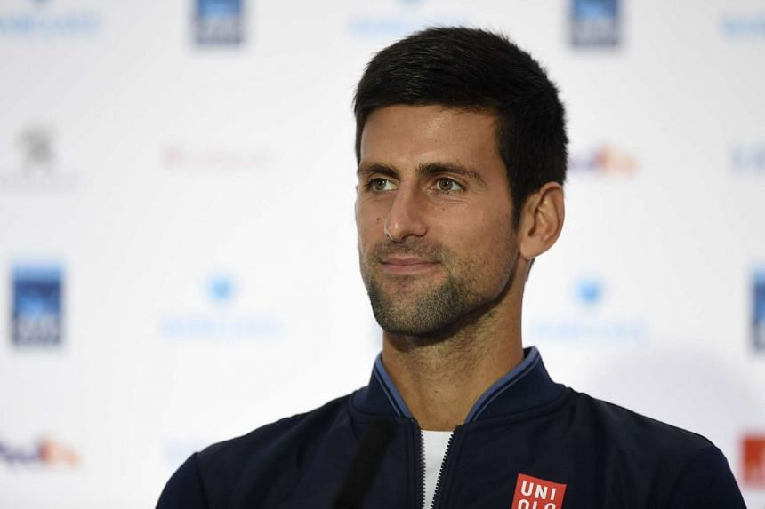 Serbia's Novak Djokovic during a press conference in London on Nov 11, 016.