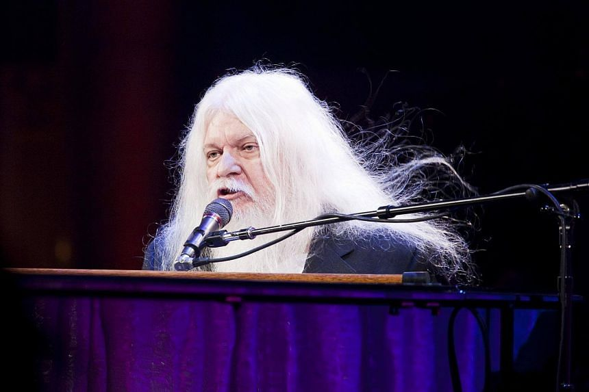 Leon Russell performing at the Elton John AIDS Foundation's 9th Annual Benefit in New York on Oct 18, 2010.