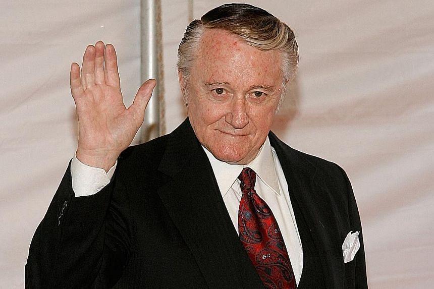 Emmy Award- winning actor Robert Vaughn (above) died of acute leukaemia, aged 83.