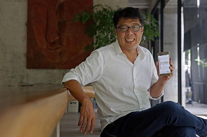 Mr Tan, managing director of MGG Mobileapps, which created an app for schools to take students' attendance and contact their parents.