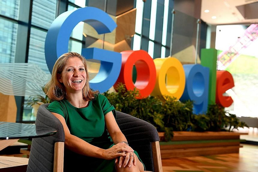 """Ms Flint was approached in 2008 to join Google, which had only been in Singapore for a year and was operating out of serviced offices. She said that while the company has engineering sites across the globe, having a presence here """"is a massive breakt"""