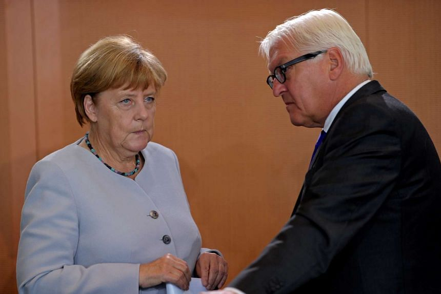 """German Chancellor Angela Merkel has said German Foreign Minister Frank-Walter Steinmeier is """"excellently suited"""" to the role of president."""
