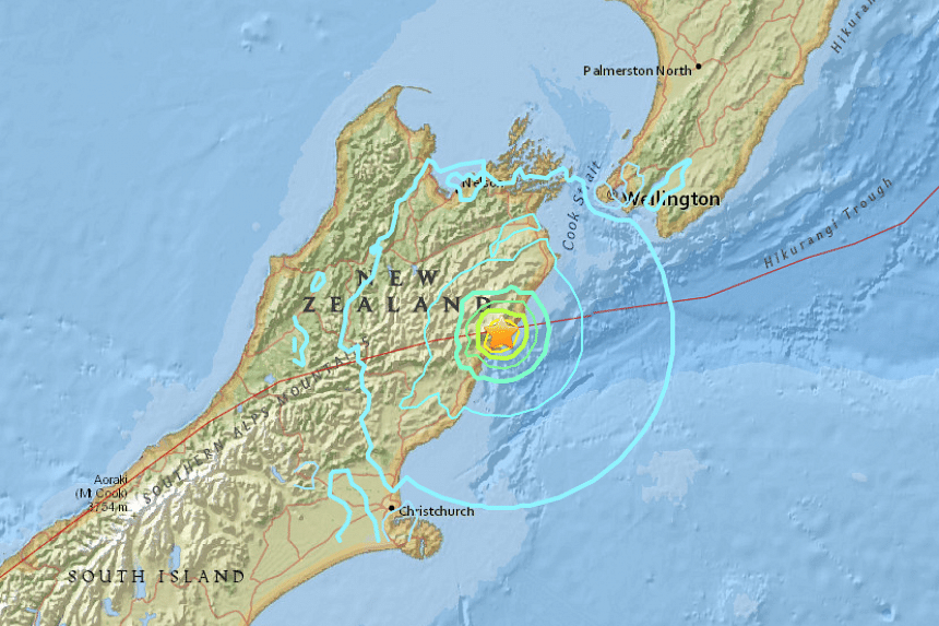 A strong new earthquake with a magnitude of 6.2 struck New Zealand's South Island on Monday (Nov 14), the US Geological Survey (USGS)  said, hours after a more powerful quake killed two people and damaged buildings along the east coast of the South
