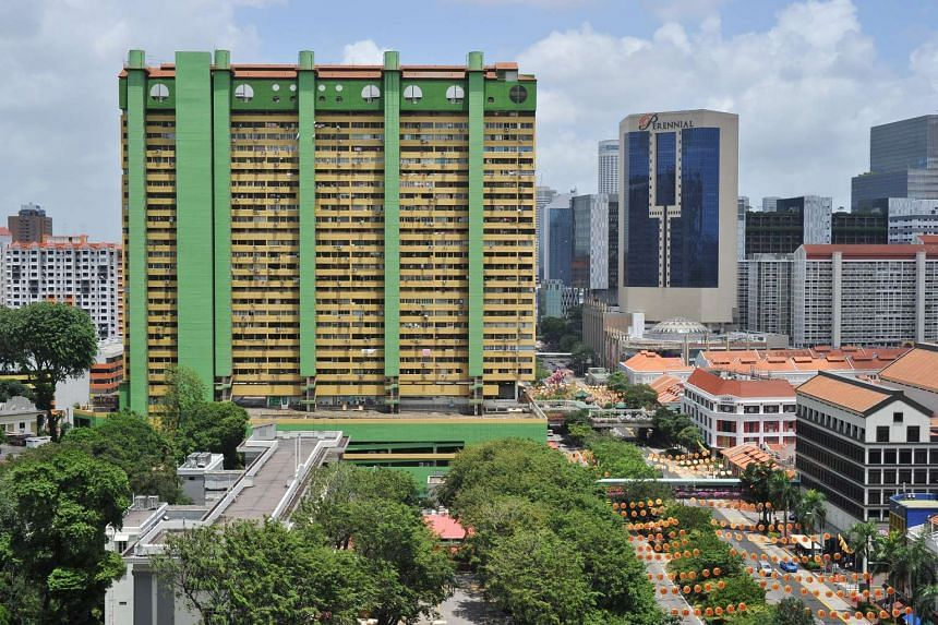 People's Park Complex (in green).
