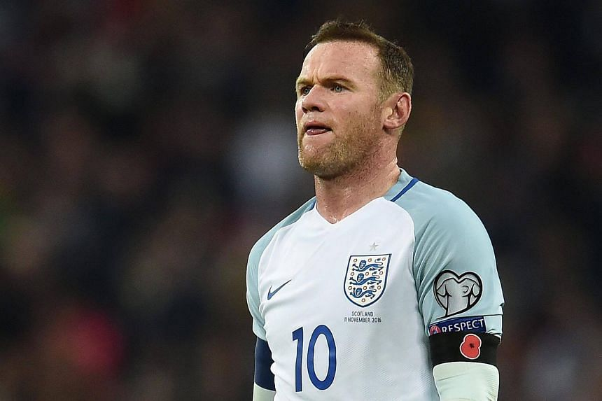 England's captain Wayne Rooney in action during the Fifa World Cup 2018 Qualification group F match between England and Scotland.