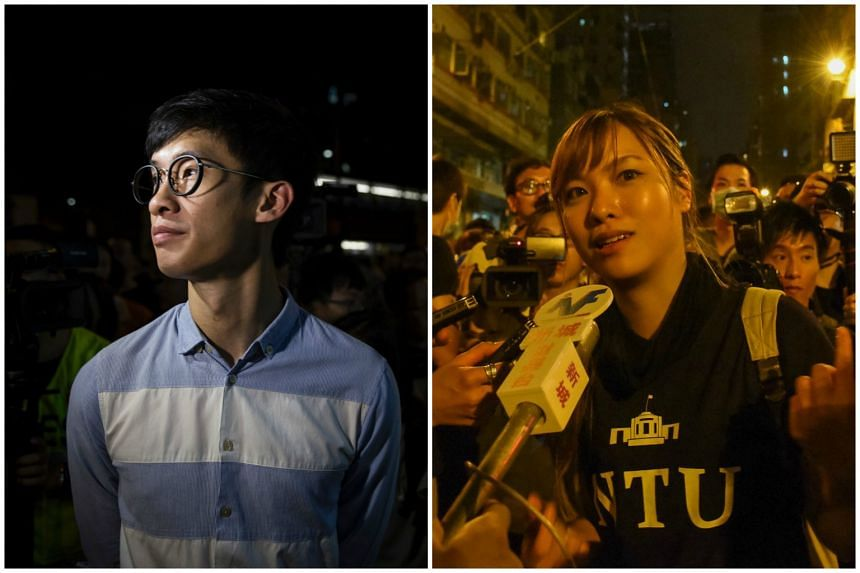 Justice Thomas Au Hing Cheung said the actions of Baggio Leung Chung Hang (left) and Yau Wai Ching during their Oct  12 swearing-in ceremony meant they had declined to take their oaths and must therefore be disqualified.