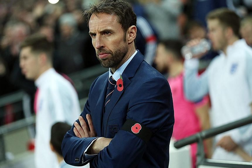 England caretaker manager Gareth Southgate during the World Cup qualifying match against Scotland in Wembley Stadiumlast week.