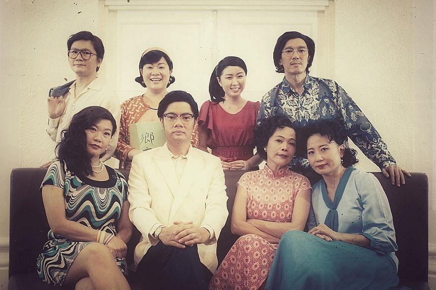 The directors of Body X - The Rehearsal, Danny Yeo and Li Xie (front row, second and third from left), and its cast (clockwise, from back row), Ric Liu, Judy Ngo, Melody Chan, Alvin Chiam, Doreen Toh and Zelda Tatiana Ng.