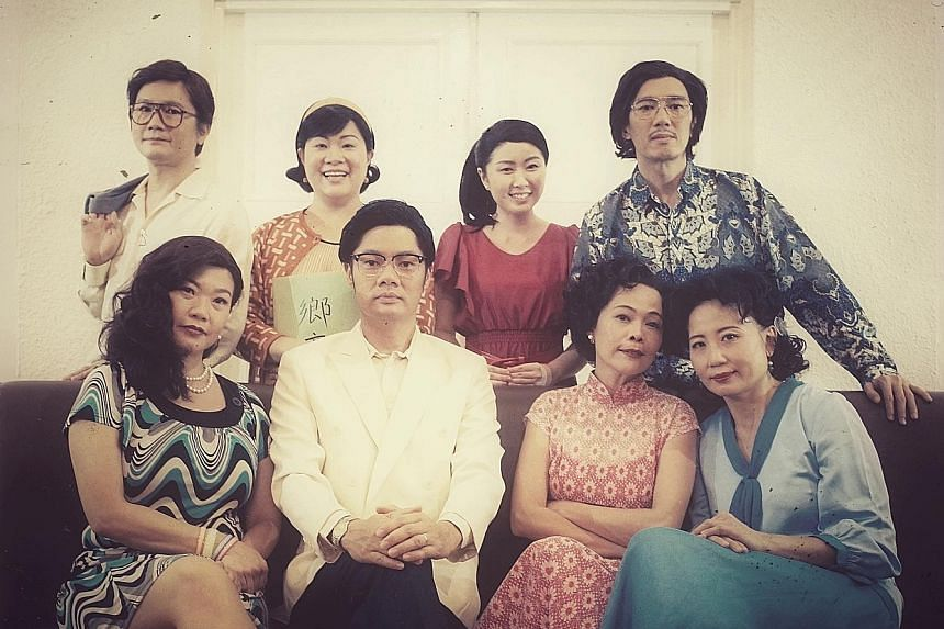 Body X - The Rehearsal directors Danny Yeo and Li Xie (sitting, second and third from left), and members of the cast.