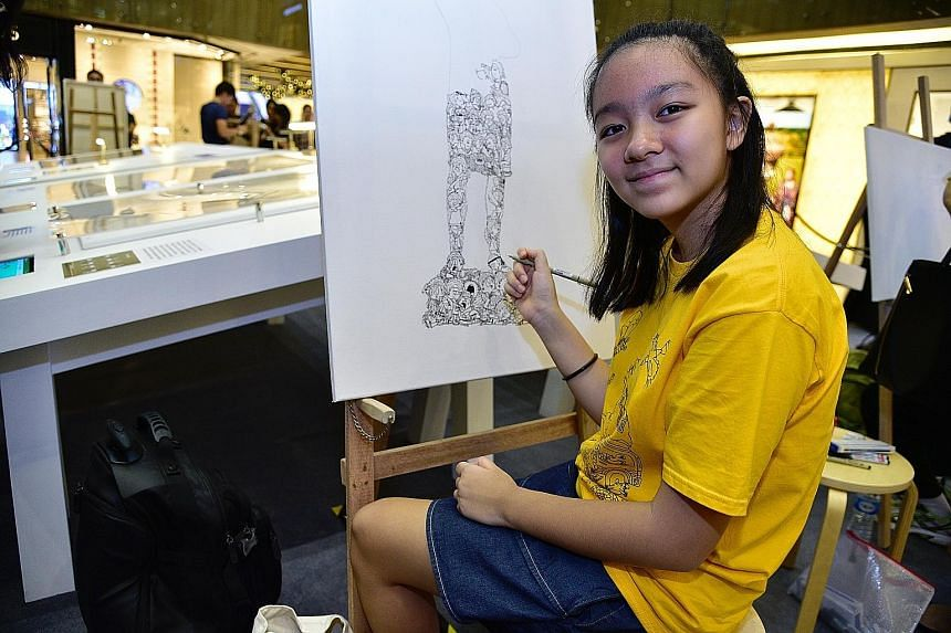 Jolie Lim, 12, is using her talent in art and her concern for endangered animals to help raise funds for wildlife rescue group Acres.