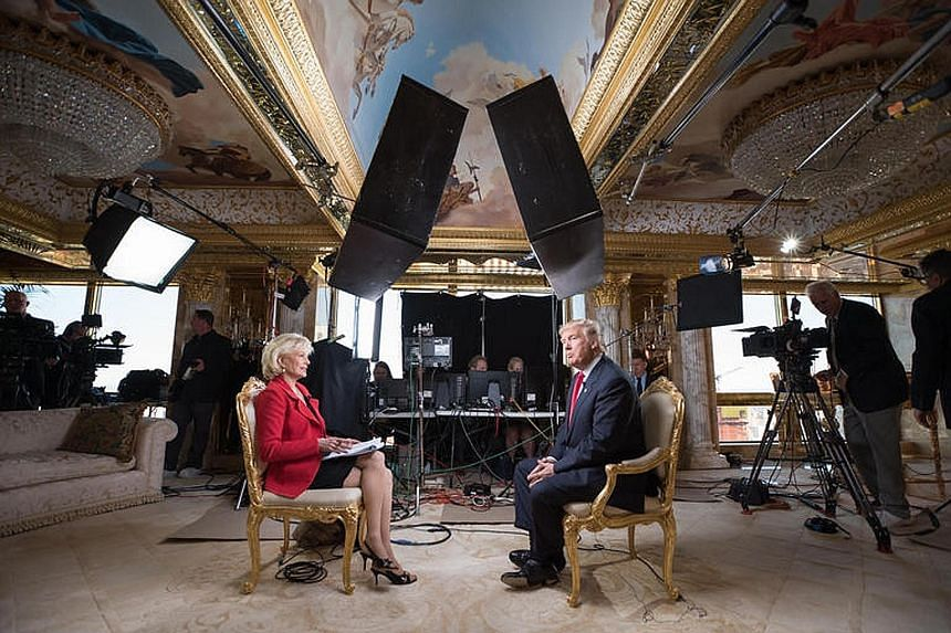 Mr Trump speaking to interviewer Lesley Stahl on 60 Minutes, in his first prime-time TV interview since his win. He confirmed he would forgo the US$400,000 salary that comes with the office of president, and take only US$1 a year.