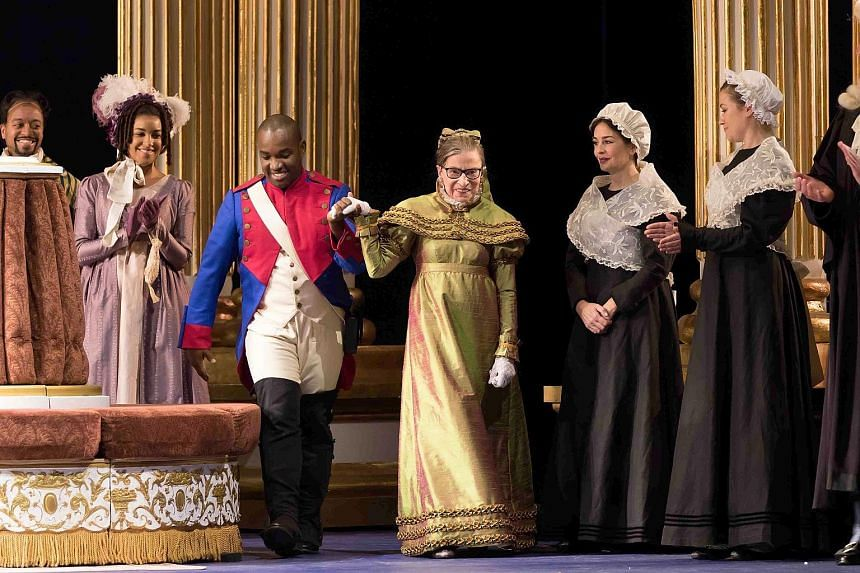 Ruth Bader Ginsburg's (centre) role as a duchess in The Daughter Of The Regiment was a one- night-only performance.