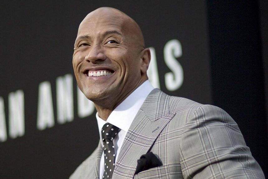 Actor Dwayne Johnson attending the premiere of San Andreas in Hollywood.